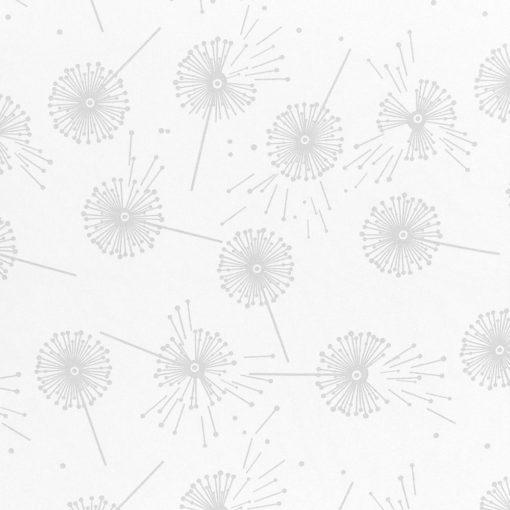 żakardowa - dmuchawce - biały