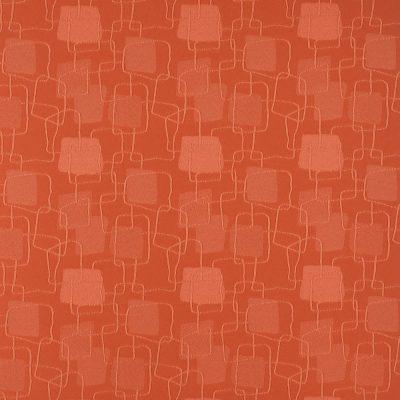 żakardowa - topaz - czerwono pomarańczowy